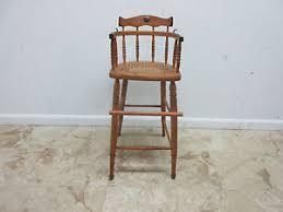 antique tiger oak bent wood high chair stool chair childs doll ebay