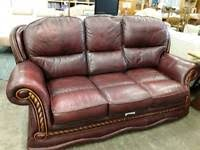 Burgundy Leather Sofa Burgundy Leather Sofa Sofas Armchairs Couches U0026 Suites For