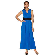 liz lange liz lange maxi dress with slimming waistband 8310202 hsn