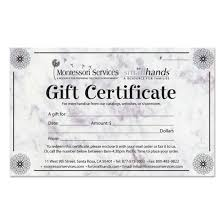 gift certificates order gift certificates online montessori services