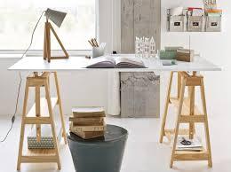 bureau bois ikea l gant bureau architecte ikea treteaux reglables bois beraue style