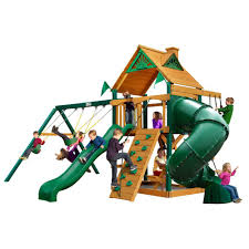 gorilla playsets mountaineer with amber posts cedar playset 01