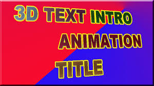 how to make or create 3d text intro animation title in aurora 3 d
