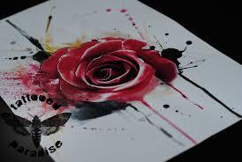 watercolour rose by dopeindulgence on deviantart