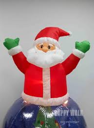 Home Decor Wholesale Supplier by 2015 New Inflatable Santa Clausrotating Christmas Ornamenthome