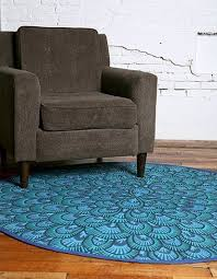 Peacock Blue Rug Round Printed Peacock Rug From Urban Outfitters Apartment Therapy