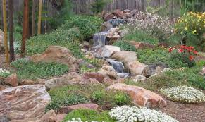 Western Outdoor Designs by Landscaping A Backyard Stream Unique Landscape