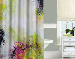 Black Bathroom Curtains Black And White Shower Curtain Hearts Shower Curtain Black