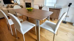 solid walnut dining room furniture table and chairs contemporary