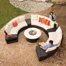 lloyd flanders flair woven vinyl curved sectional sofa set with