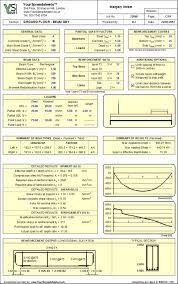 Wood Beam Design Software Free by Concrete Spreadsheets