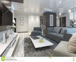 salon du luxe studio de luxe de salon dans un style moderne illustration stock