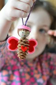 pine cone love fairy craft pine cone pine and pinecone