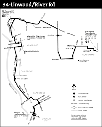 Via Bus Route Map 34 Linwood River Rd