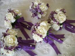 silk wedding flowers silk flower bouquet of silk lilacs and realtouch bridal