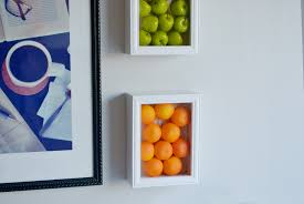 diy kitchen wall art ideas colorful kitchen wall art with fake fruits