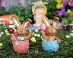 Easter Garden Decorations by Fairy Garden Easter Bunny Miniature Easter Eggs Miniature