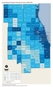 Cook County Map Trends In Vacant Housing Units And Vacancy Rates 2000 2010