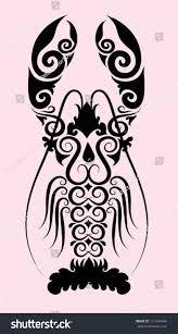 lobster ornament vector use restaurant cafe stock vector 111264446