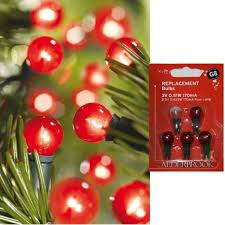 Christmas Tree Spare Bulbs - noma g8 3volt red berry spare lamp litelec
