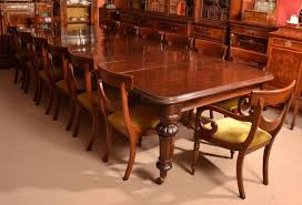 Victorian Dining Room Antique 12 Foot Victorian Dining Table Circa 1860 And 14 Chairs At