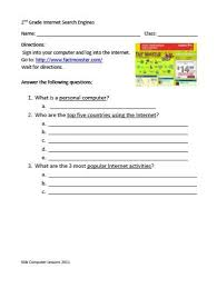 Computer Lesson Worksheets Kid Computer Lesson October 2011