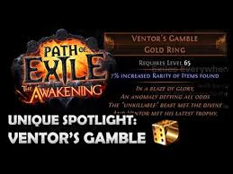 gold rings poe images Path of exile ventor 39 s gamble unique spotlight jpg