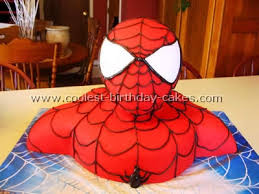 coolest pictures of a spiderman cake