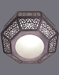 octagon ceiling light fixture large contemporary octagonal ceiling mounted light silver white