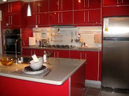 bathroom cute striking kitchens red lacquer kitchen cabinets