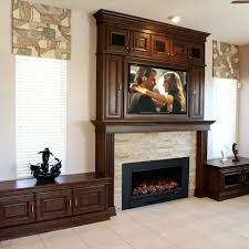 electric fireplace insert outdoor costco tv stand media small plug