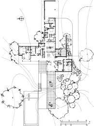 desert house plans richard neutra kaufmann house floor plans plan for the kaufmann