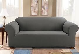 one piece stretch sofa slipcover simple stretch subway one piece sofa slipcover surefit