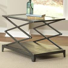 glass top end table with scissor lift frame by liberty furniture