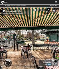 restaurant bonbonnière de marie champ de mars 360 vr pano photo