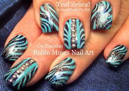 glitter zebra nails animal print nail art design tutorial