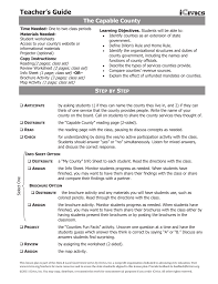 the capable county reading worksheet