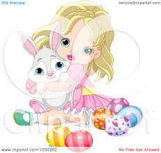 royalty free vector clip art illustration of a cute blond