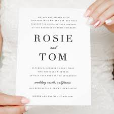 elegant wedding invitation simple and classic wedding invitations