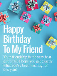 friendship is the best gift happy birthday wishes card for