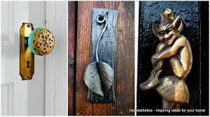 unique and interesting door knobs for an appealing front door