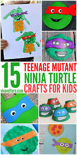 15 totally awesome teenage mutant ninja turtle crafts for kids
