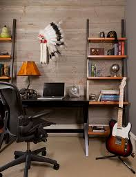 leaning bookshelf in home office contemporary with bookcase with