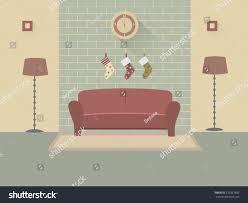home interior modern interior design living stock vector 235981882