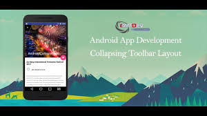 android layout collapsemode android studio tutorial collapsing toolbar layout youtube