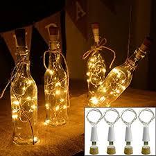cork shaped rechargeable bottle light amazon com cosoon 4 pcs wine bottle cork lights usb powered