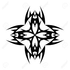 tribal cross designs vector sketch of a tribal