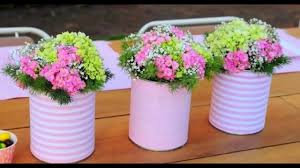 Tin Vases 20 Tin Can Craft Ideas For Flower Vases And Plant Pots Youtube