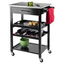 stainless steel folding 24x30 serving cart hayneedle
