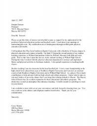 cover letter for pe teachers